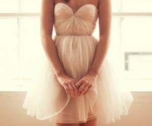 dress, girl, and lovely image