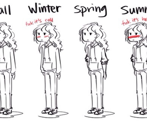 summer, winter, and fall image