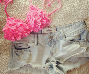 bikini, hollister, and shorts image