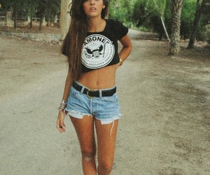 girl, hair, and ramones image