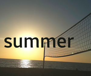 summer, sun, and volleyball image
