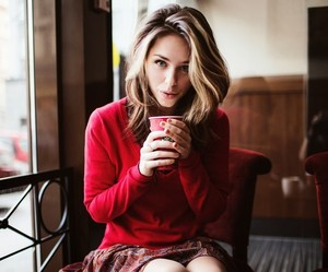 blonde, coffee, and beautiful image