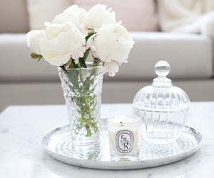 flowers, white, and home image