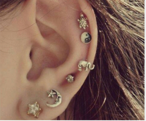 earrings, indie, and outfit image