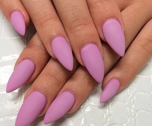 nails, pink, and matte image