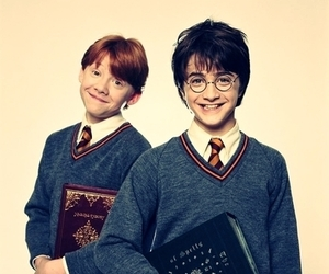 daniel radcliffe, harry and rony, and happy image