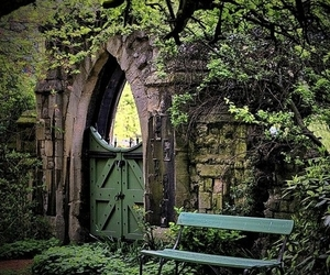 nature, garden, and gate image