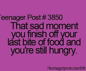 food, hungry, and sad image