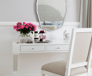 bedroom, flowers, and makeup image