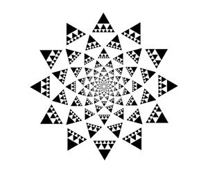 black and white, flower, and mandala image