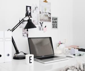 white, desk, and design image