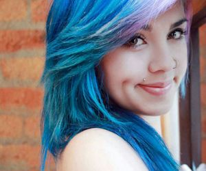 dimple, girl, and emo image