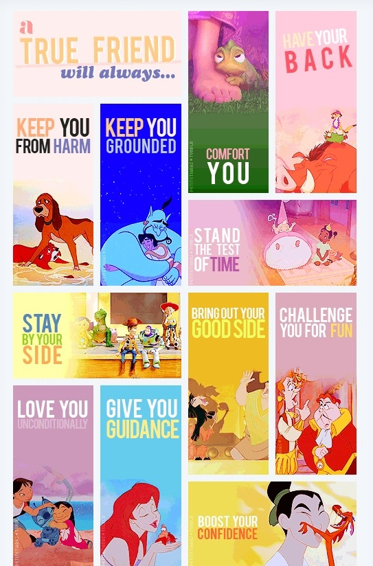 True friend - Disney style. on We Heart It