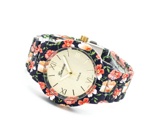 dark, watch, and floral image
