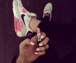 nails, air max, and pink image