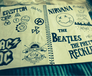 ACDC, nirvana, and the beatles image