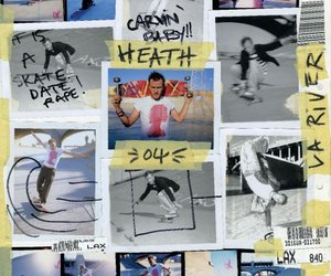 Collage, heath ledger, and skateboarding image