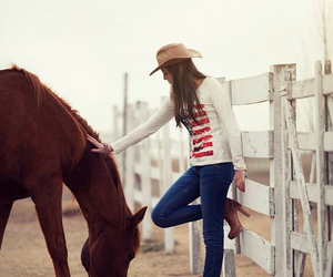 animals, love, and Cowgirl image