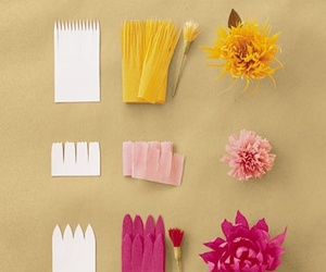 crepe paper, martha stewart, and flowers image