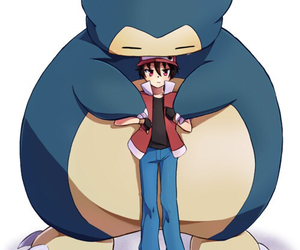 pokemon, red, and snorlax image