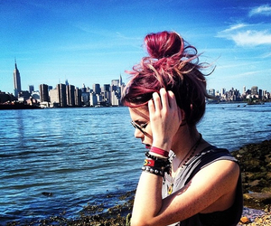grunge, hair, and city image