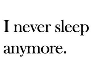 sleep, sad, and depression image