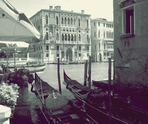 boat, italy, and venice image