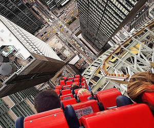 city, fun, and rollercoaster image