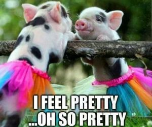 pretty, piglet, and pig image