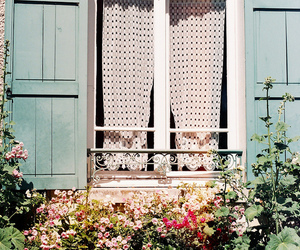 curtains, shabby chic, and vintage image