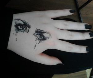 eyes, black, and grunge image