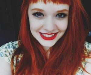 girl, redhead, and red image