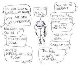 sad, depressed, and tired image