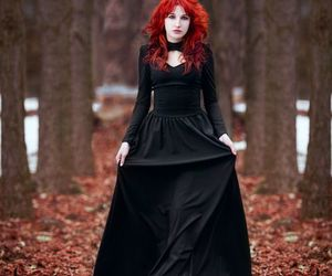 dark, forest, and red hair image