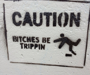 bitch, caution, and funny image