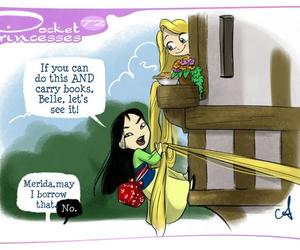 disney, mulan, and rapunzel image