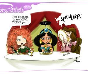 pocket princesses, disney, and belle image