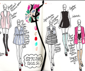 drawing, fashion, and illustration image