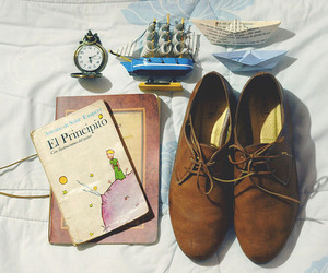 book and shoes image