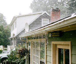 rain and house image
