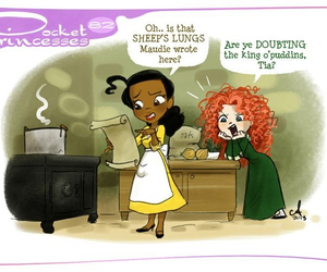 disney, pocket princesses, and merida image