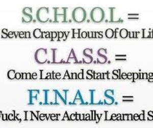 class, finals, and funny image
