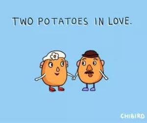 potatoes, love, and couple image