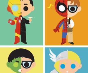 Hulk, Marvel, and spiderman image