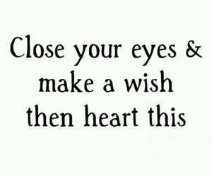 wish, heart, and eyes image
