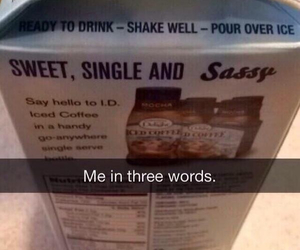 single, funny, and sassy image