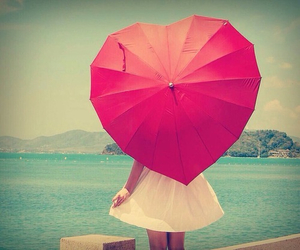 heart, umbrella, and red image