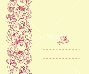 floral, flower, and swirl image