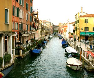 boat, building, and italy image