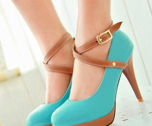 brown, heels, and straps image